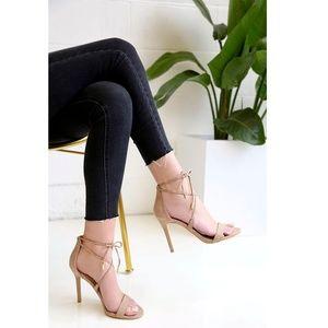 Lulu's | Aimee lace up heels